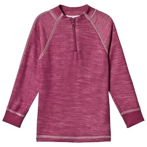 Image of Joha Damson Zip Tee Purple 90 cm (1,5-2 år) (3056097959)