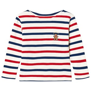 Image of Maison Labiche Red, Blue and White Striped Ginger Bread Man Long Sleeve Tee 4 years (3056084115)
