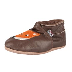 Melton Leather Shoe Fred Fox Brown
