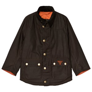 Image of Barbour Olive Stybarrow Waxed Cotton Jacket L (10-11 years) (3056071527)