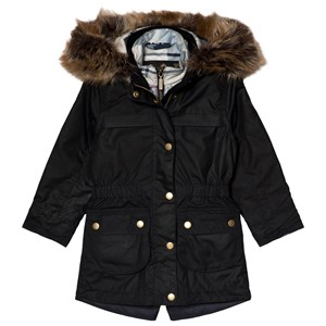 Image of Barbour Navy Dartford Waxed Cotton Jacket L (10-11 years) (3056071581)