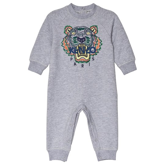 Kenzo Grey Embroidered Tiger Sweat One-Piece 25