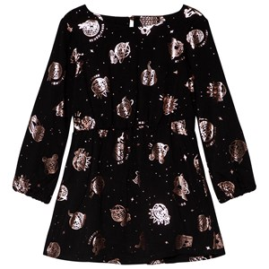 Image of Kenzo Black and Rose Gold Cosmic Dress 10 years (3056080667)