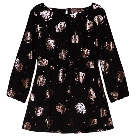 Kenzo Black and Rose Gold Cosmic Dress 29