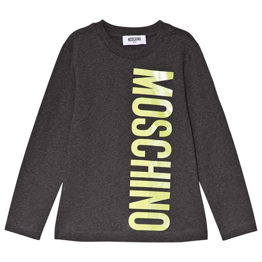 Moschino Kid-Teen Grey and Lime Logo Tee 60907
