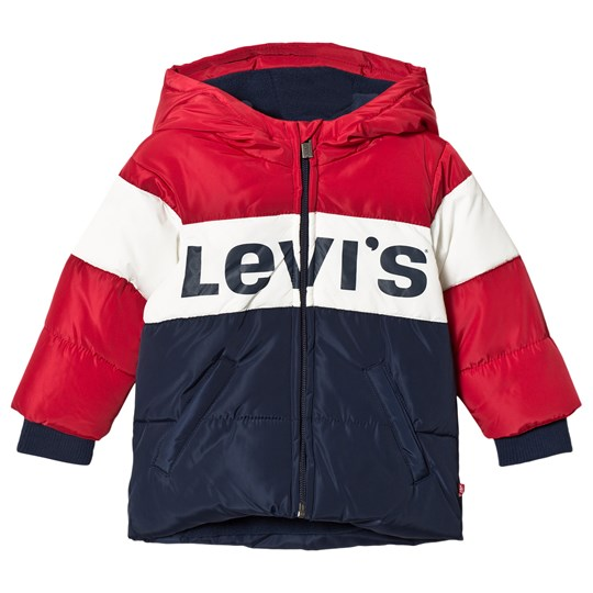 Levis Kids Red and Navy Logo Hooded Jacket 48