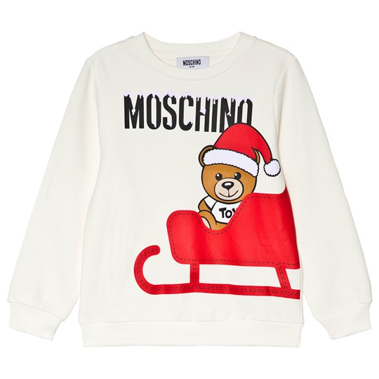 Moschino Kid-Teen White Santa Bear Print Sweatshirt 10063