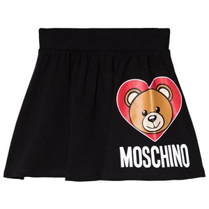 Image of Moschino Kid-Teen Black Bear Print Jersey Skirt 10 years (3056103807)