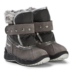 Primigi Grey Faux Fur Waterproof Goretex Snow Boots