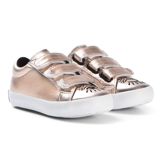 Kenzo Rose Gold Eye Embroidered Velcro Sneakers 78