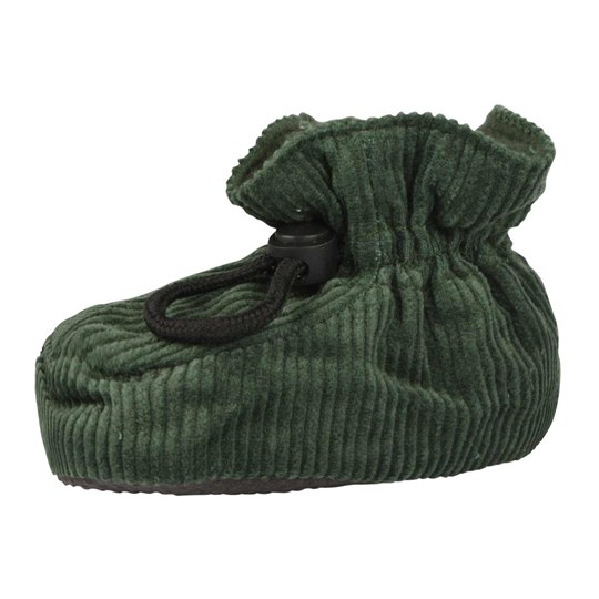 Melton Booties Corduroy Army Green Green
