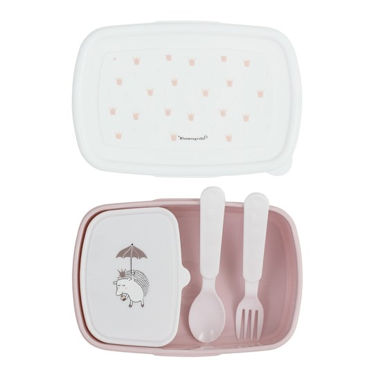 Bloomingville Rose Princess Lunch Box with Cutlery