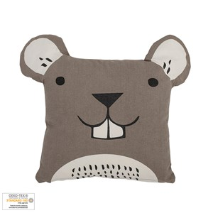 Image of Bloomingville Brown Mouse Cushion (3056086823)
