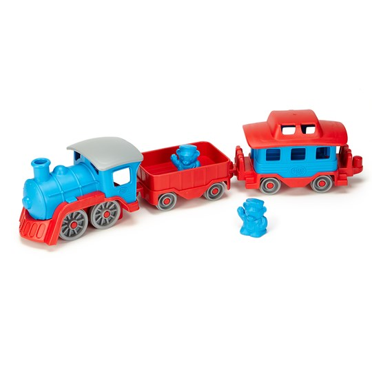 Green Toys Train Set Blue/Red Blue