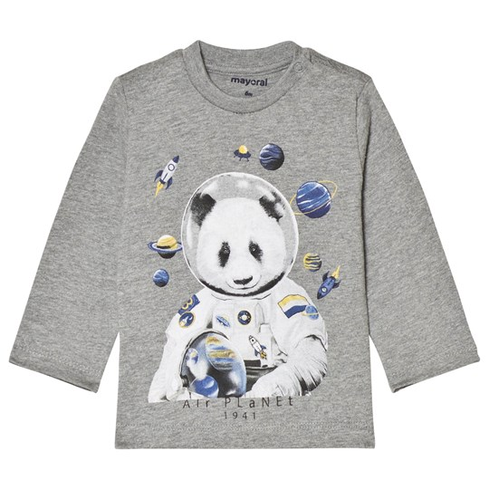 Mayoral Ash Long Sleeve Panda T-Shirt 62
