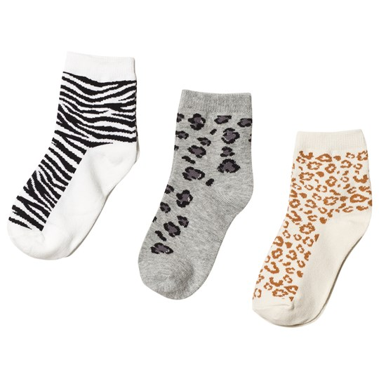 GAP Animal Print 3-Pack Grey Heather B10 GREY HEATHER