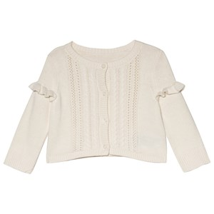 Image of GAP Ivory Frost Ruffle Cardigan 3-6 mdr (3057463903)