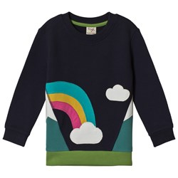 Frugi Summit Sweatshirt Navy/Rainbow