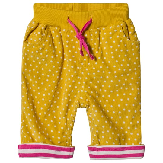 Frugi Little Cally Cord Pants Mustard Gorse Speckle Spot_AW18