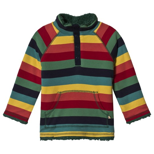 Frugi Snuggle Fleece Jacket Rainbow Marl Stripe Rainbow Marl Stripe_AW18