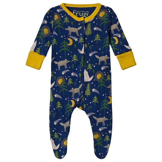 Frugi Lovely Footed Baby Body Moonlit Night Moonlit Night_AW18