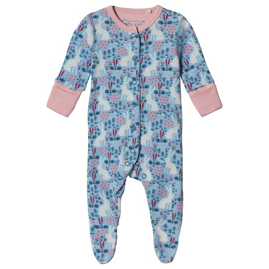 Frugi Lovely Footed Baby Body Sky Blue Arctic Hares Sky Blue Arctic Hares_AW18