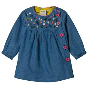 Image of Frugi Chambray Little Edie Embroidered Dress 0-3 months (3058030715)