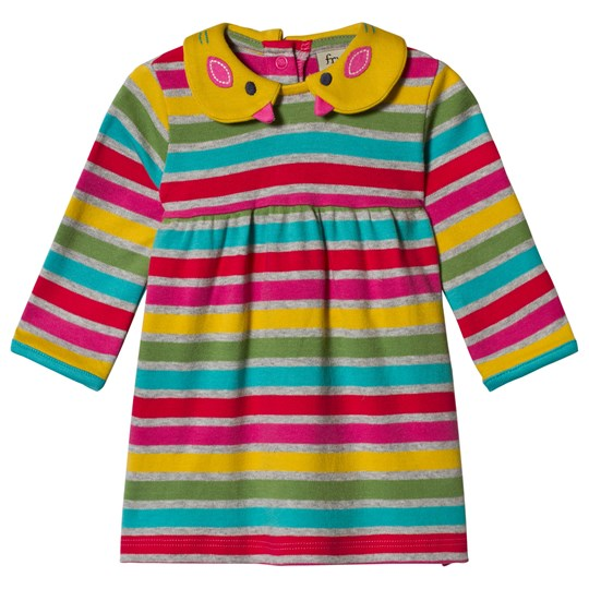 Frugi Rainbow Marl Brenton Wren Collar Dress Rainbow Marl Breton_AW18
