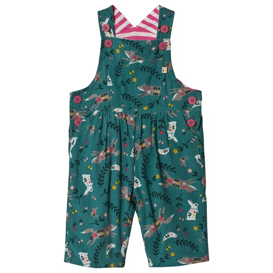 Frugi Ethel Cord Overalls River Blue Alpine Friends River Blue Alpine Friends_AW18