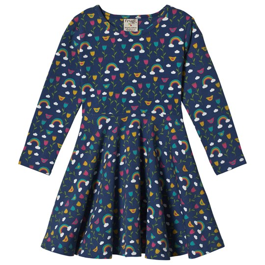 Frugi Navy Perfect Day Sofia Skater Dress Perfect Day_AW18