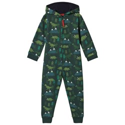 Frugi Green Dino Trek One-Piece