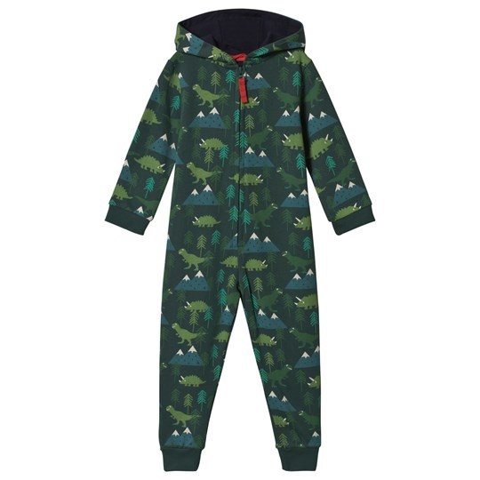 Frugi Green Dino Trek One-Piece Dino Trek_AW18