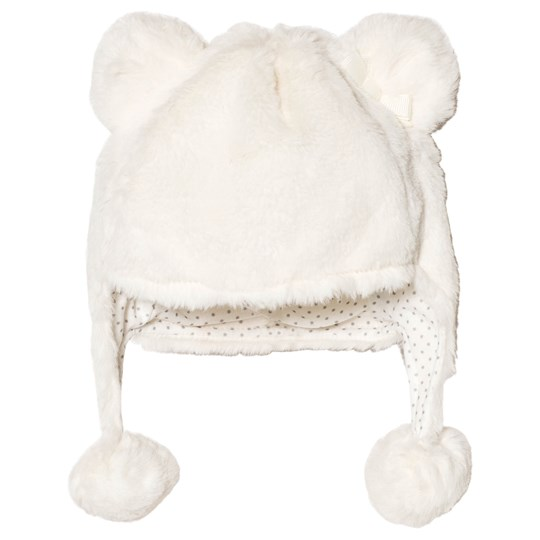 Mayoral Off White Faux Fur Hat 15
