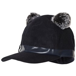 Mayoral Navy Blue Pom-Pom Baseball Cap