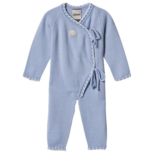 Lillelam Seamless One-Piece Light Blue Lyseblå