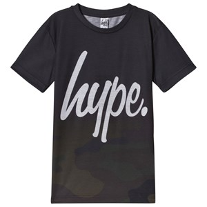 Image of Hype Black and Khaki Camo Fade T-Shirt 3-4 years (3057104363)