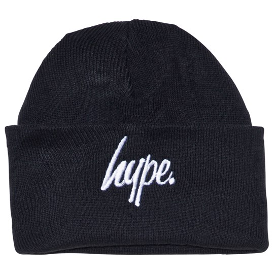 Hype Navy Branded Script Beanie Navy/White