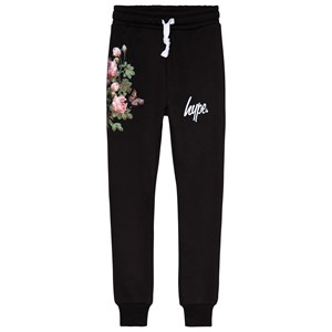 Image of Hype Black Floral Sweatpants 3-4 years (3057104867)