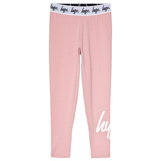 Hype Pink Script Leggings Pink/White