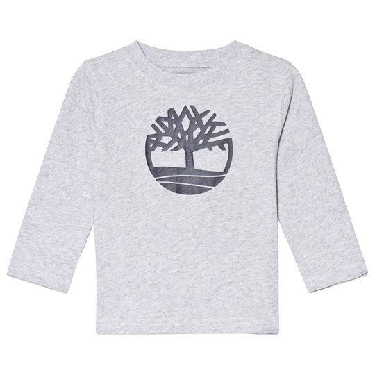 Timberland Grey Tree Logo Long Sleeve Tee A32