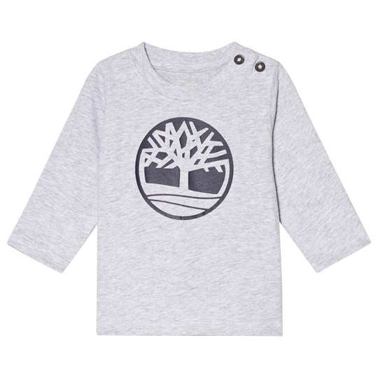 Timberland Grey Tree Logo Long Baby Sleeve Tee A32