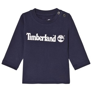 Timberland Navy Branded Baby Long Sleeve Tee 18 months