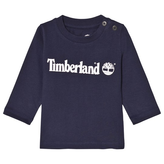 Timberland Navy Branded Baby Long Sleeve Tee 85T