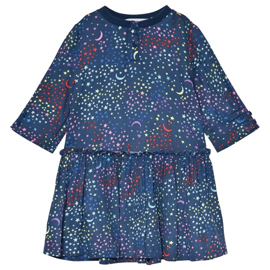 Stella McCartney Kids Kiwi Dress with Star Print Blue/Multicolor 4097 - Multicolor Stars Pr