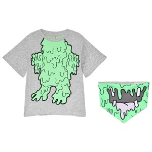 Image of Stella McCartney Kids Arrow T-Shirt with Fluro Monster Print Grey 10 years (3057105335)