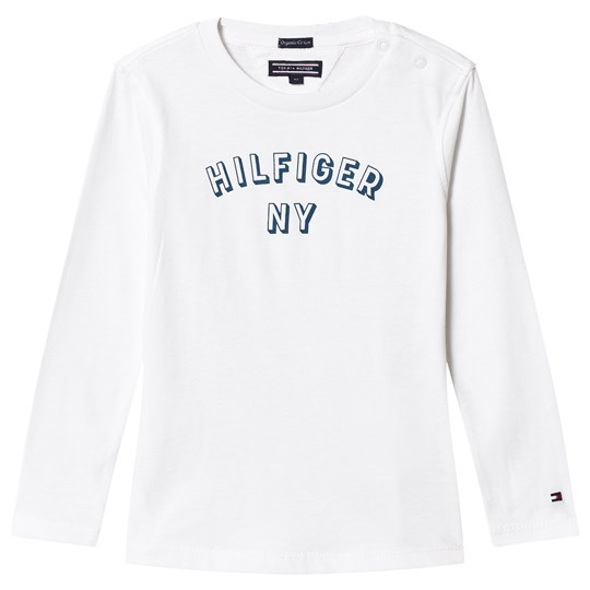 Tommy Hilfiger White Long Sleeve Branded Tee 123