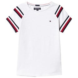 Tommy Hilfiger White Red and Navy Stripe Top
