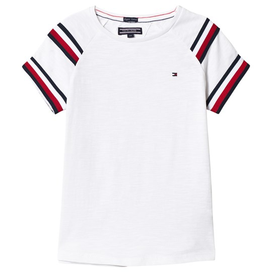 Tommy Hilfiger White Red and Navy Stripe Top 123