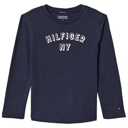 Tommy Hilfiger Navy Long Sleeve Branded NY Tee