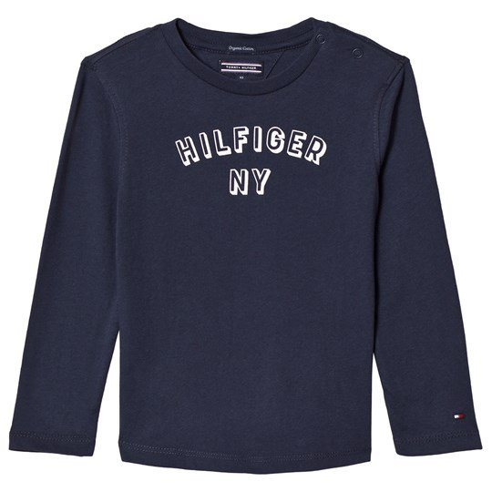 Tommy Hilfiger Navy Long Sleeve Branded NY Tee 002